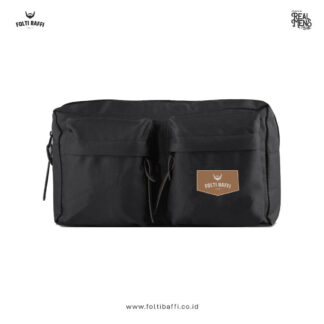 Folti Baffi Waist Bag Black